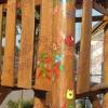 Virágos díszítés - rönkfa játék