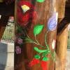 Kalocsai virág, rönkfa játék
