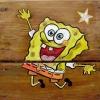 Spongya Bob díszítés rönk játszótéren