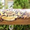 Rönkbútor, tigris díszítés