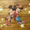 Micky és Minnie díszítés, rönkbútor